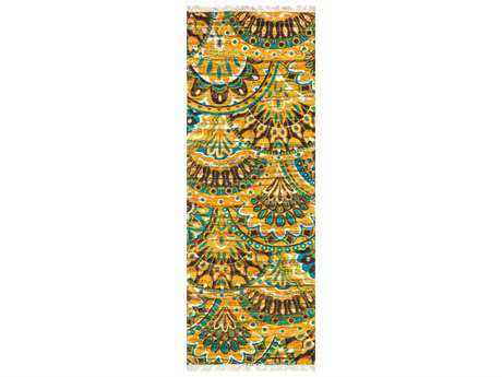 Loloi Rugs Aria HAR17 1'9'' X 5' Peacock / Yellow Runner Rug