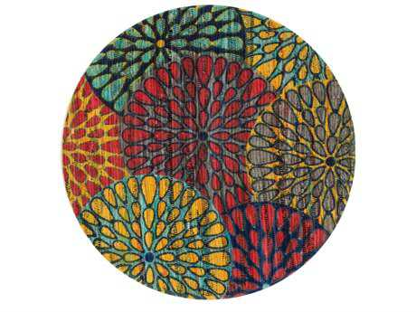 Loloi Rugs Aria HAR19 3'0'' Round Light Blue / Multi Area Rug
