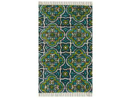 Loloi Rugs Aria HAR27 Rectangular Blue / Lime Area Rug