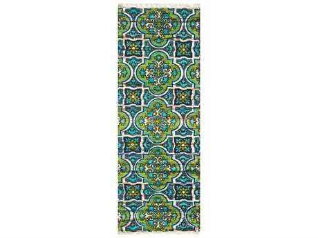 Loloi Rugs Aria HAR27 1'9'' X 5' Blue / Lime Runner Rug