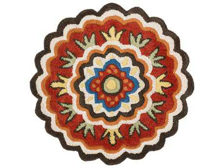 Loloi Rugs Azalea AZ-02 3'0'' Round Dark Brown / Red Area Rug