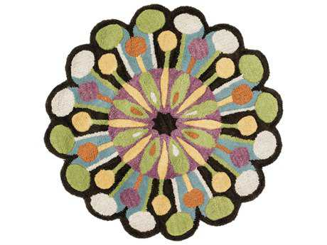 Loloi Rugs Azalea AZ-05 3'0'' Round Dark Brown / Green Area Rug