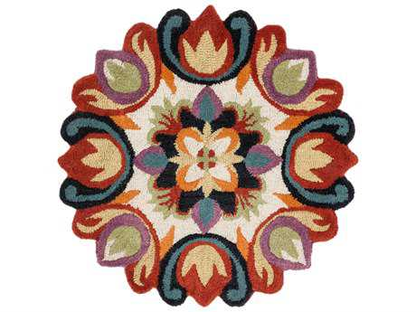 Loloi Rugs Azalea AZ-07 3'0'' Round Red / Multi Area Rug