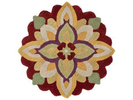 Loloi Rugs Azalea AZ-10 3'0'' Round Red / Yellow Area Rug