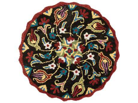 Loloi Rugs Azalea AZ-12 3'0'' Round Dark Brown / Multi Area Rug