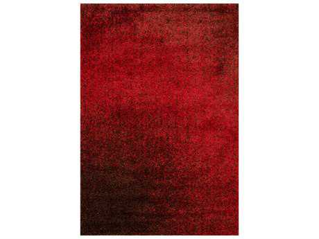 Loloi Rugs Barcelona Shag BS-01 Rectangular Red / Brown Area Rug