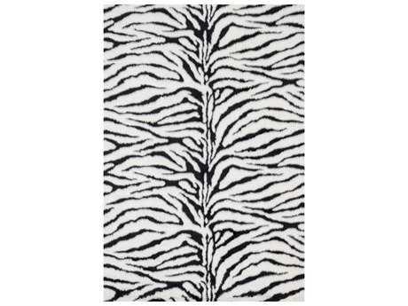 Loloi Rugs Danso Shag DA-01 Rectangular Zebra Area Rug