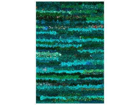 Loloi Rugs Eliza Shag EI-01 Rectangular Emerald Area Rug