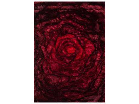 Loloi Rugs Glamour Shag GS-01 Rectangular Red Area Rug