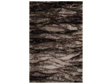 Loloi Rugs Glamour Shag GS-02 Rectangular Peppercorn Area Rug