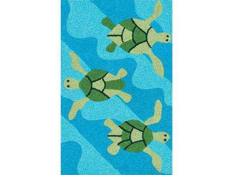 Loloi Rugs Angelou 1'9 X 2'9 Rectangular Ocean & Green Area Rug