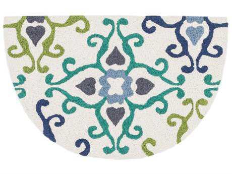 Loloi Rugs Angelou 1'9 X 2'9 Hearth Ivory & Blue Area Rug