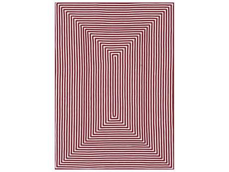 Loloi Rugs In-Out IO-01 Rectangular Red Area Rug