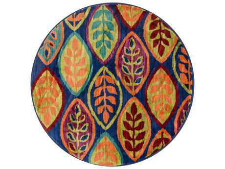 Loloi Rugs Isabelle HIS04 3'0'' Round Blue / Multi Area Rug