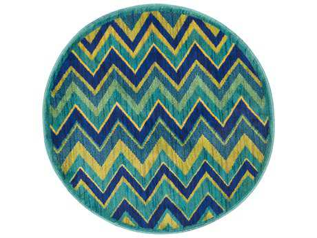 Loloi Rugs Isabelle HIS07 3'0'' Round Green / Multi Area Rug