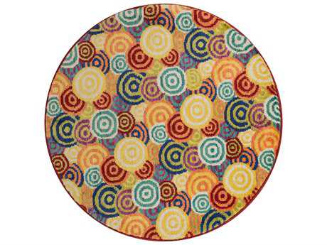 Loloi Rugs Isabelle HIS11 3'0'' Round Multi Area Rug