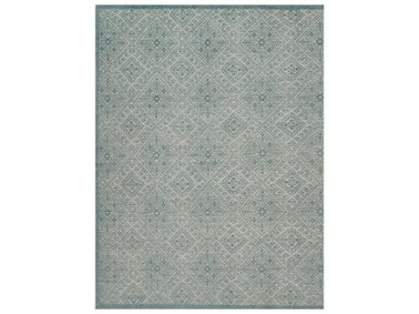 Loloi Rugs Java Jq-04 Rectangular Aqua Area Rug
