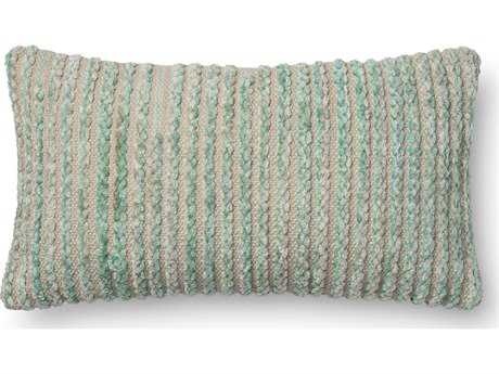 Loloi Rugs 12'' x 22'' Rectangular Silver Sage Pillow (Sold in 4)