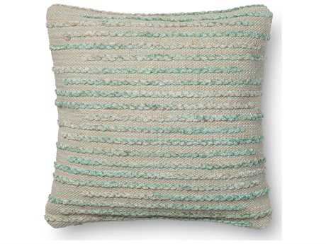 Loloi Rugs 18 Square Silver Sage Pillow (Sold in 4)