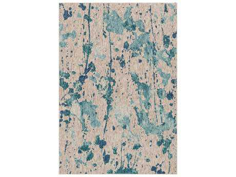Loloi Rugs Newport NP-10 Rectangular Aqua / Grey Area Rug