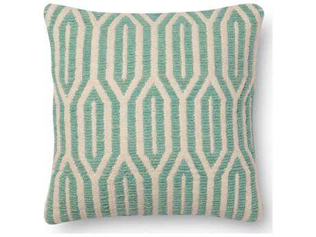 Loloi Rugs 18 Square Aqua Pillow (Sold in 4)