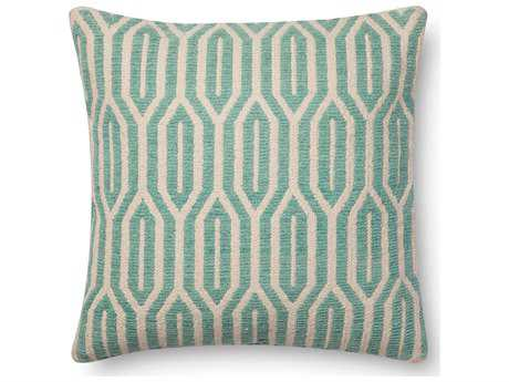 Loloi Rugs 22 Square Aqua Pillow (Sold in 4)