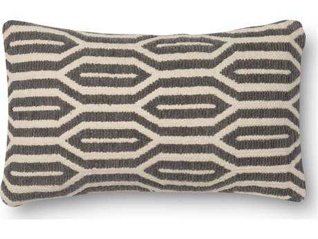 Loloi Rugs 12'' x 22'' Rectangular Dark Taupe Pillow (Sold in 4)