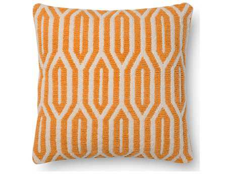 Loloi Rugs 18 Square Orange Pillow (Sold in 4)
