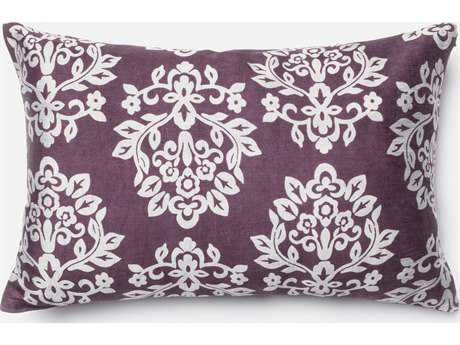 Loloi Rugs 13'' x 21'' Rectangular Plum & Silver Pillow (Sold in 4)