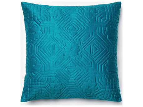 Loloi Rugs 22'' Square Teal Pillow (Sold in 4)