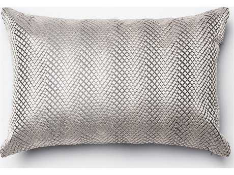 Loloi Rugs 13'' x 21'' Rectangular Silver Pillow (Sold in 4)