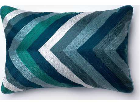 Loloi Rugs 13'' x 21'' Rectangular Blue Pillow (Sold in 4)