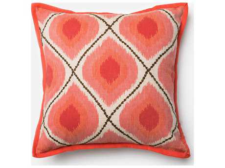Loloi Rugs 18'' Square Coral & Pink Pillow (Sold in 4)