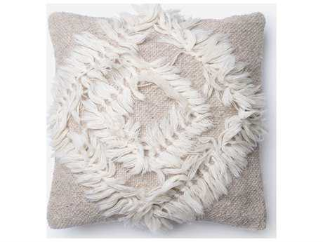 Loloi Rugs 18'' Square Beige & Cream Pillow (Sold in 4)
