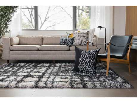 Loloi Rugs 22'' Square Black & White Pillow (Sold in 4)