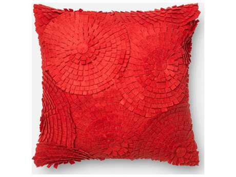 Loloi Rugs 18'' Square Red Pillow (Sold in 4)