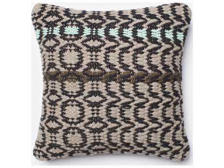Loloi Rugs 18'' Square Black & Grey Pillow (Sold in 4)