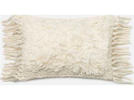 Loloi Rugs 13'' x 21'' Rectangular Ivory Pillow (Sold in 4)