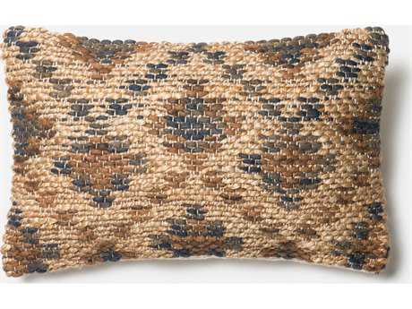 Loloi Rugs 13'' x 21'' Rectangular Brown & Beige Pillow (Sold in 4)