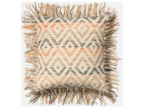 Loloi Rugs 22 Square Beige & Orange Pillow (Sold in 4)