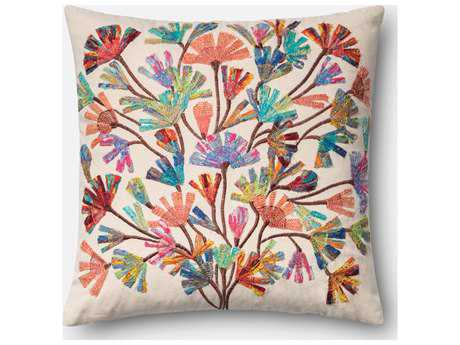 Loloi Rugs 18 Square Multi-Color Pillow (Sold in 4)