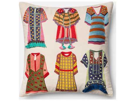 Loloi Rugs 18 Square Multi-Color Pillow (Sold in 4)