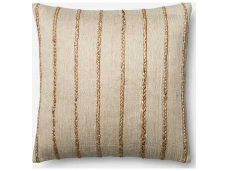 Loloi Rugs 22'' x 22'' Square Beige Pillow (Sold in 4)