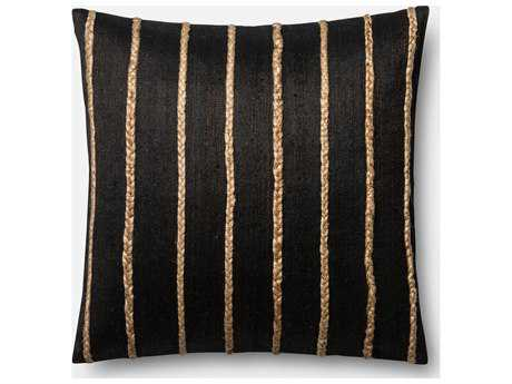 Loloi Rugs 22'' x 22'' Square Black Pillow (Sold in 4)