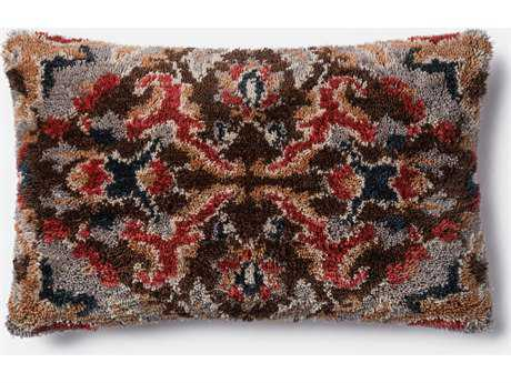 Loloi Rugs 13'' x 21'' Grey / Multi-Color Pillow (Sold in 4)