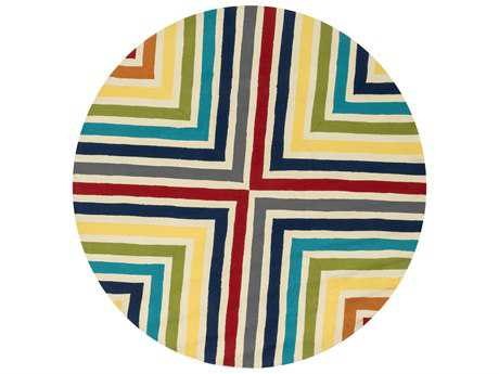 Loloi Rugs Palm Springs PM-01 7'10'' Round Multi Area Rug