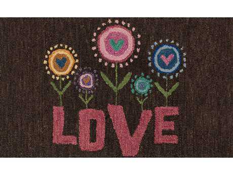Loloi Rugs Skylar HSK15 2'3'' x 3'9'' Rectangular Brown / Pink Area Rug