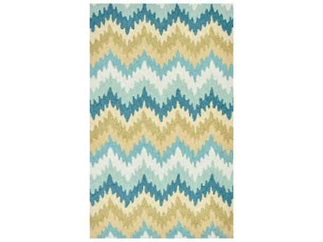 Loloi Rugs Summerton SRS01 Rectangular Aqua / Green Area Rug