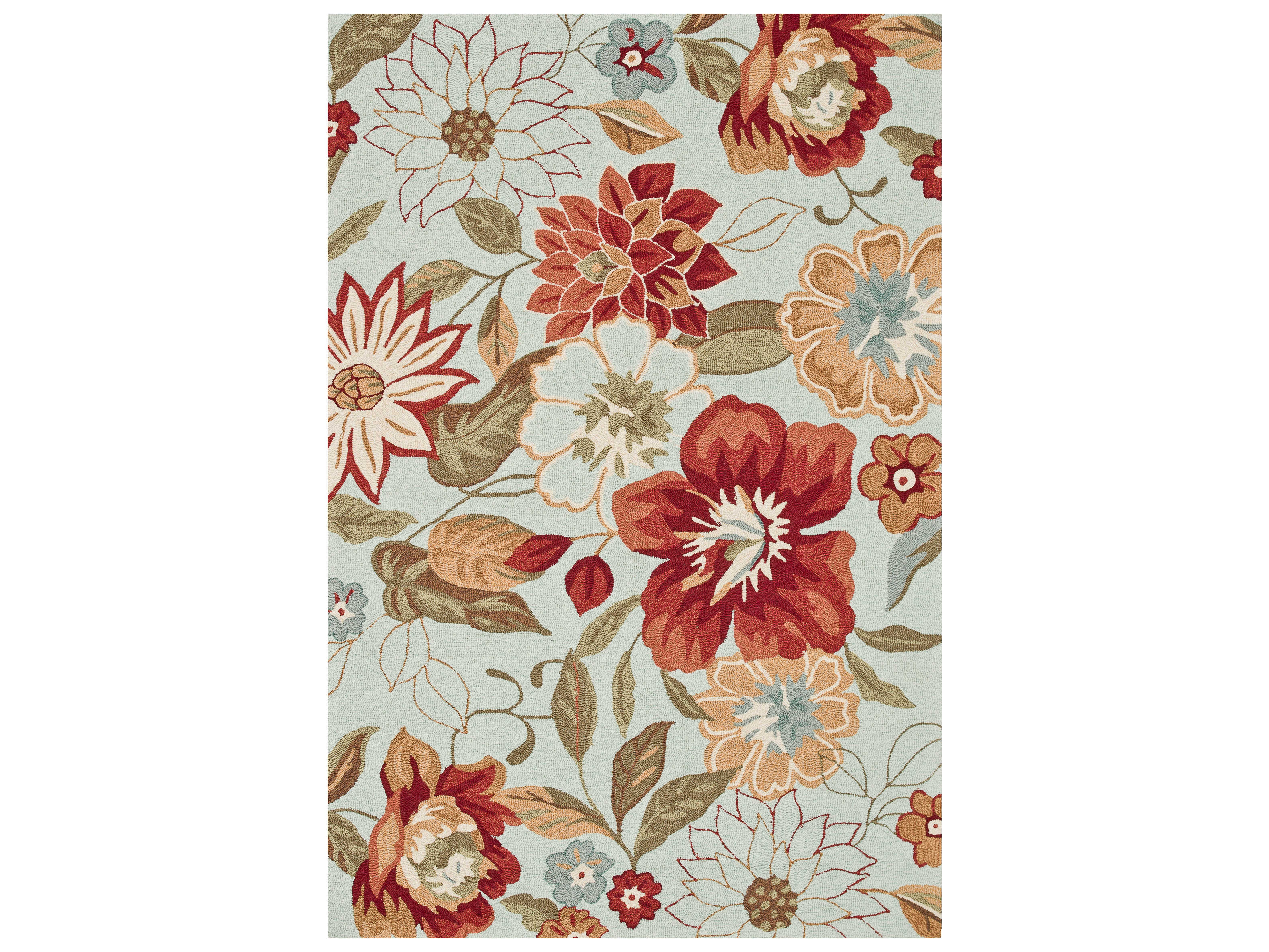 Loloi Rugs Summerton Srs04 Mist Red Area Rug