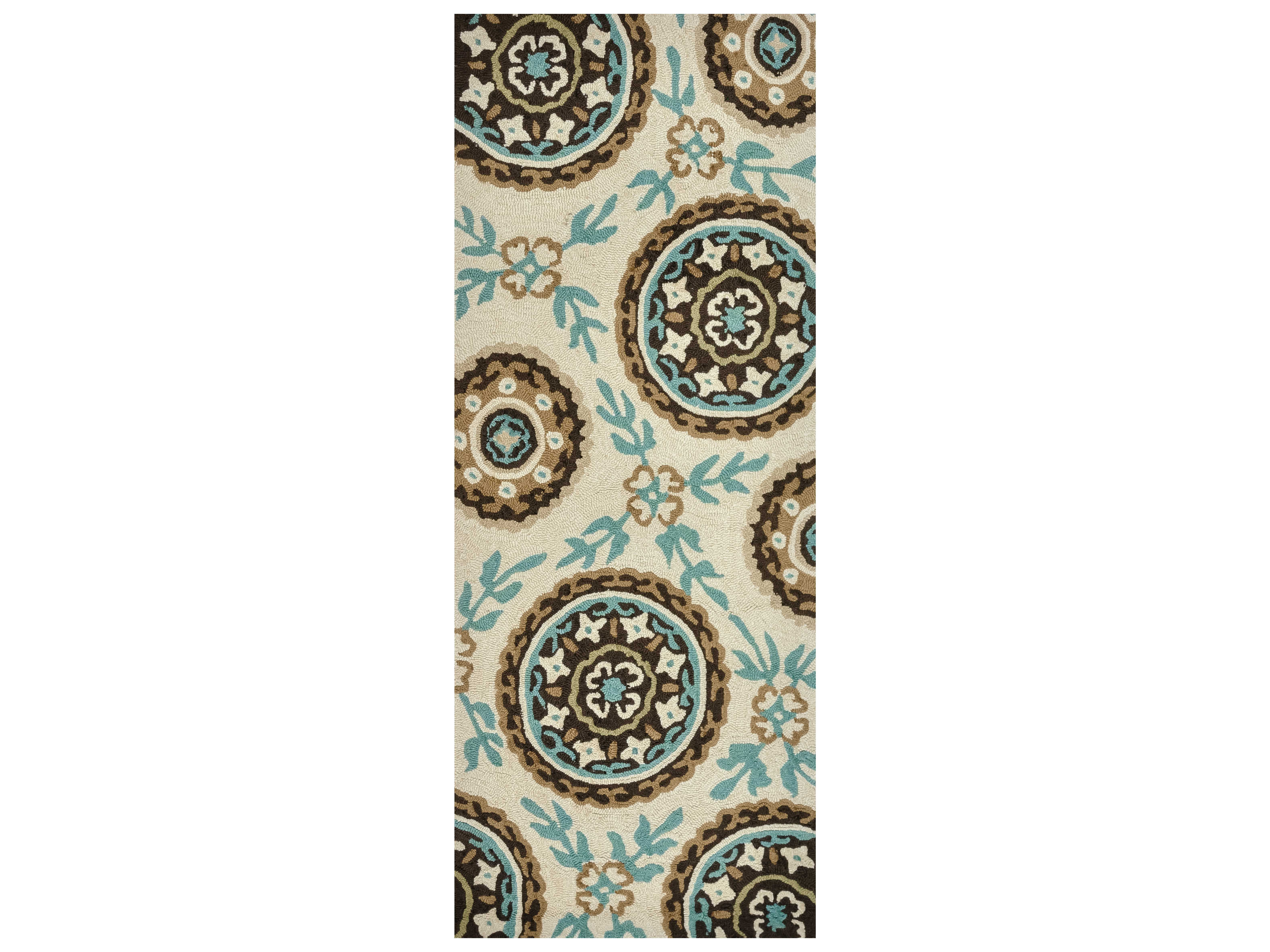 Loloi Rugs Summerton Srs08 Rectangular Ivory Teal Area